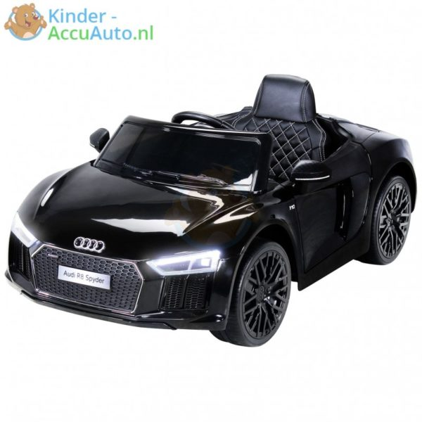 Audi R8 kinderauto zwart 1