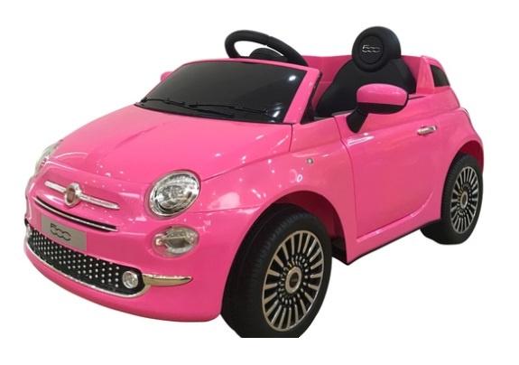Fiat 500 Kinderauto Roze
