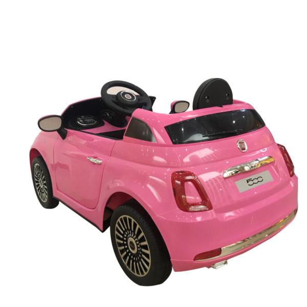 Elektrische kinderauto fiat 500 roze 5