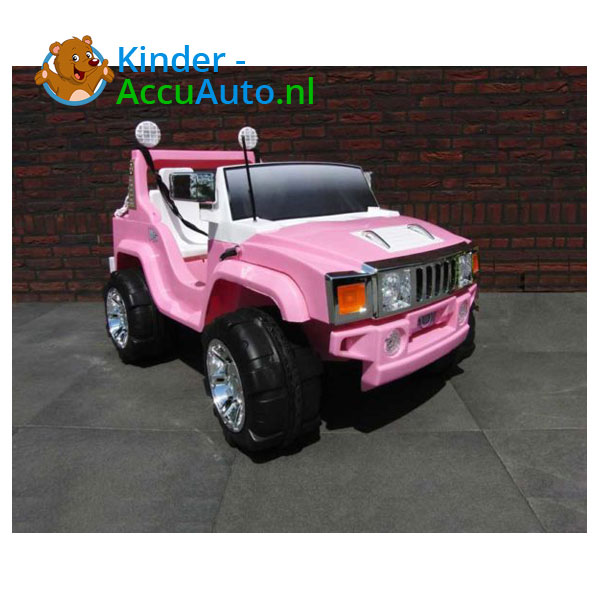 Jeep Kinderauto 2 Persoons Roze 3