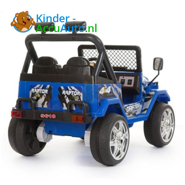 Jeep Raptor Kinderauto Blauw 2