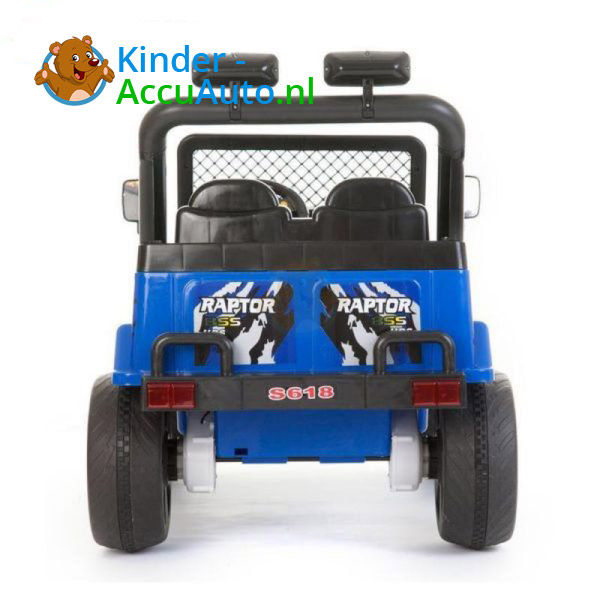 Jeep Raptor Kinderauto Blauw 3
