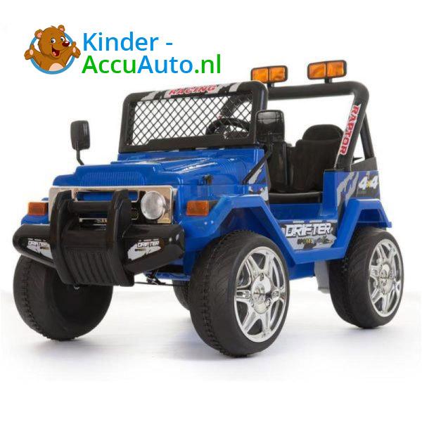 Jeep Raptor Kinderauto Blauw 4