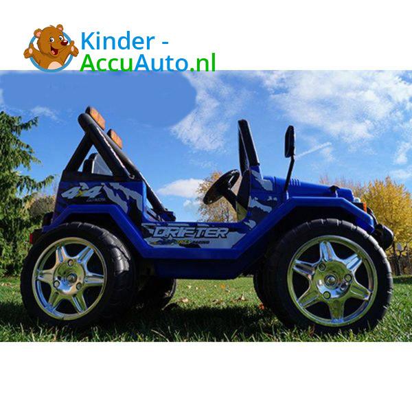 Jeep Raptor Kinderauto Blauw 5