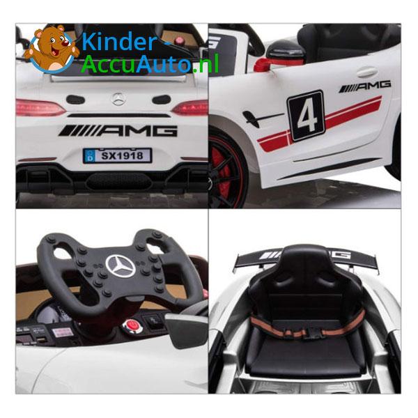Mercedes GT4 AMG kinderauto Wit 4