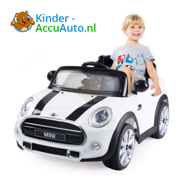 Mini Cooper Kinderauto Wit 1