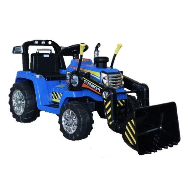 elektrische kinderauto tractor blauw 1 foto