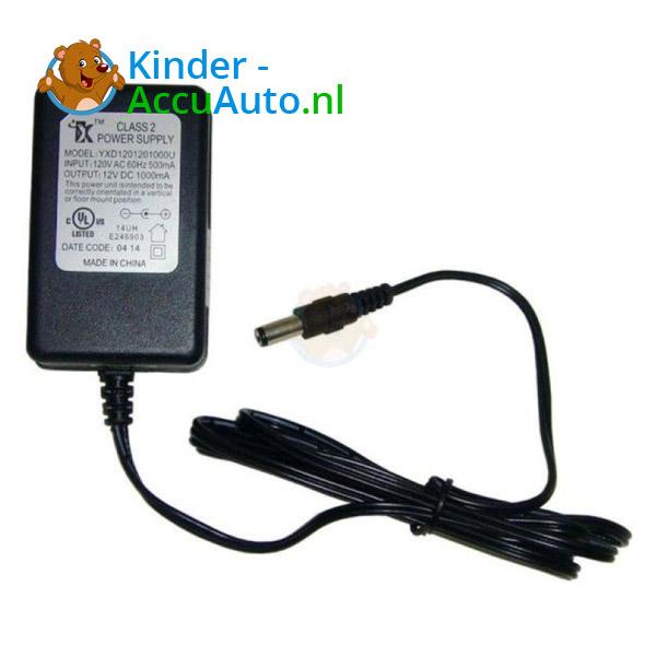 Elektrische Kinderauto Oplader 12V ronde pin 1