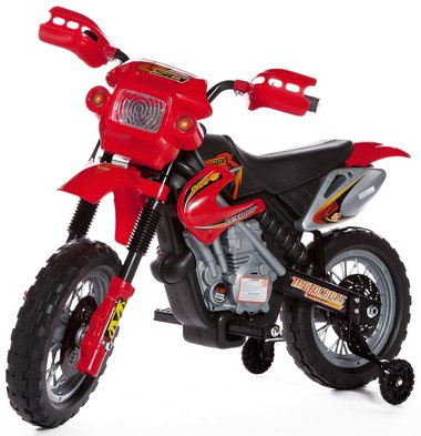 Crossmotor Kindermotor 6V Rood