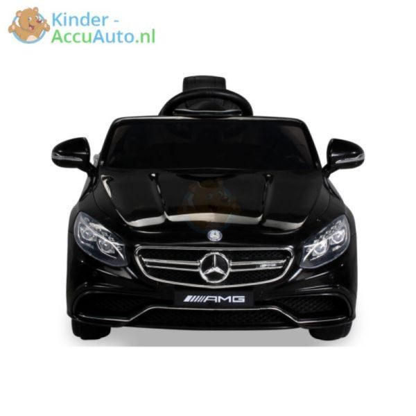 Kinder Accu Auto mercedes S63 AMG zwart 25