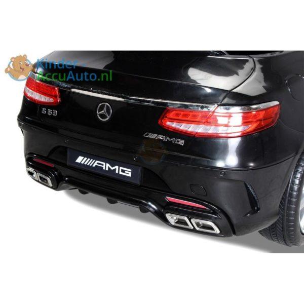 Kinder Accu Auto mercedes S63 AMG zwart 28