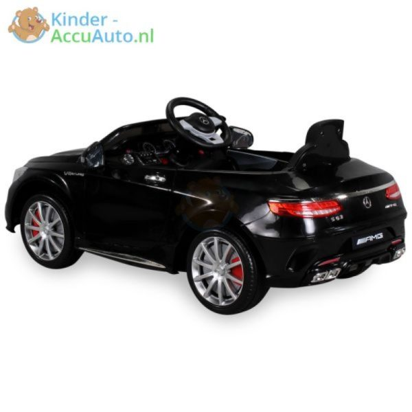 Kinder Accu Auto mercedes S63 AMG zwart 30