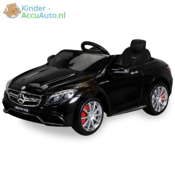Kinder Accu Auto mercedes S63 AMG zwart 31