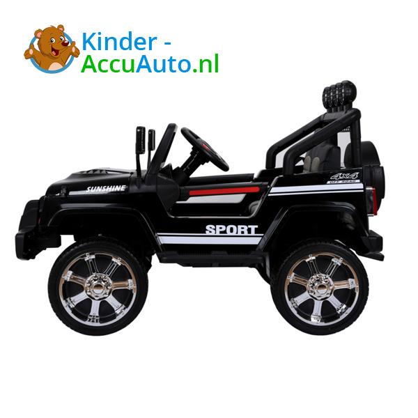 Monster Jeep Zwart Kinderauto 2