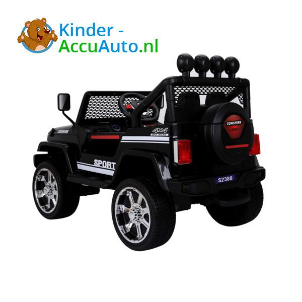 Monster Jeep Zwart Kinderauto 3