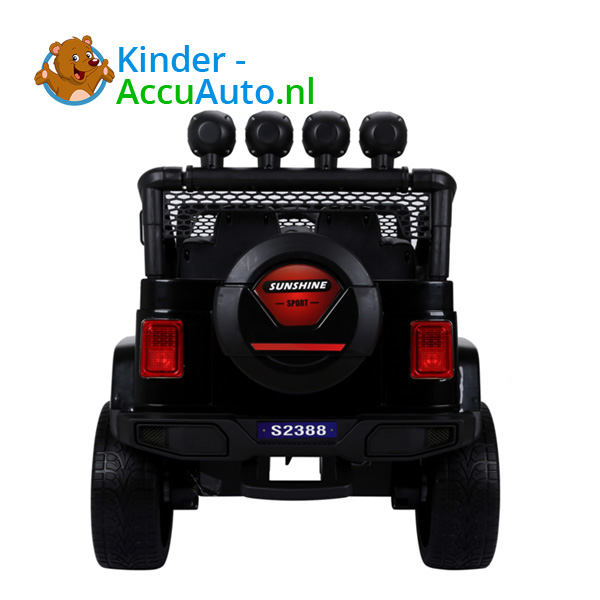 Monster Jeep Zwart Kinderauto 4