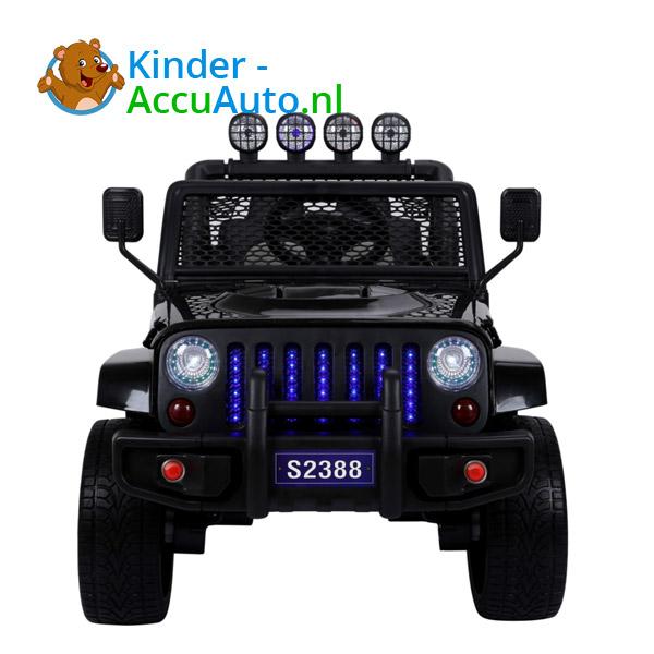 Monster Jeep Zwart Kinderauto 5