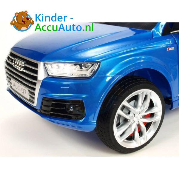 Audi Q7 Kinder Accu Auto Blauw 6
