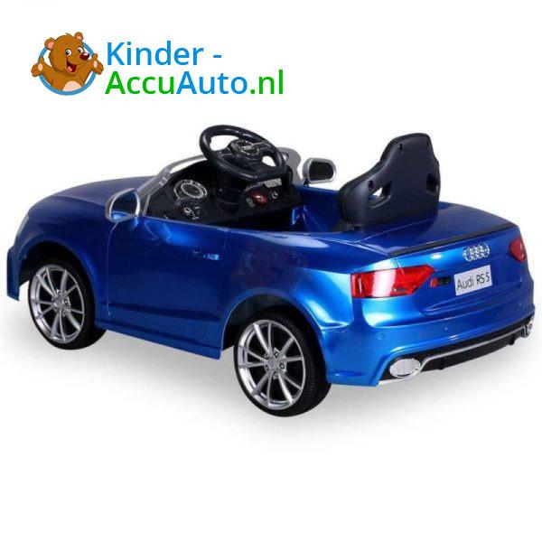 Audi RS5 Kinderauto Blauw 7