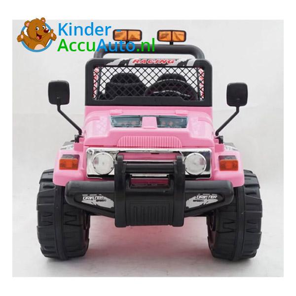 Elektrische kinderauto jeep raptor roze 3