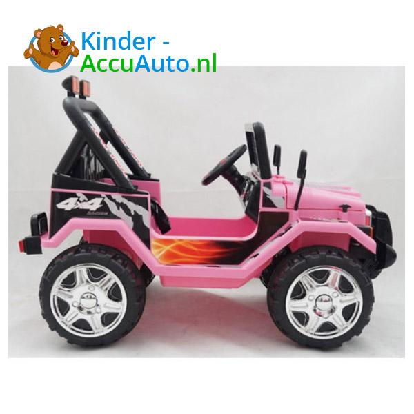 Elektrische kinderauto jeep raptor roze 5