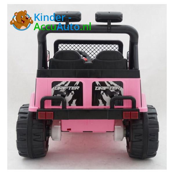 Elektrische kinderauto jeep raptor roze 6