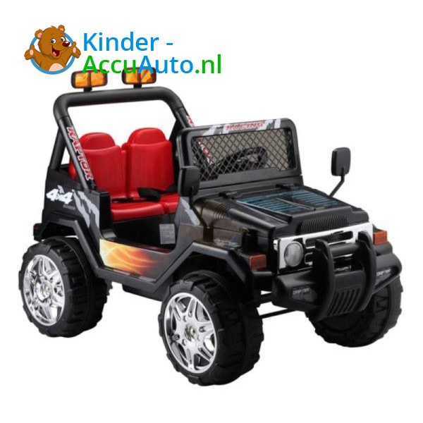 Jeep Raptor Kinderauto Zwart 4