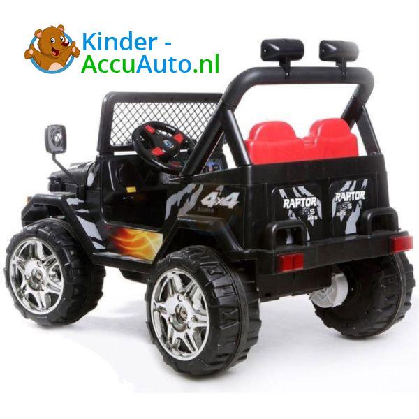 Jeep Raptor Kinderauto Zwart 5