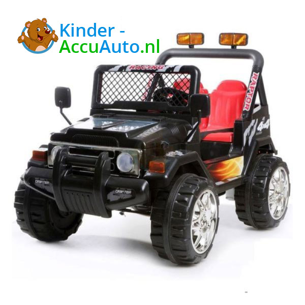 Jeep Raptor Kinderauto Zwart 6