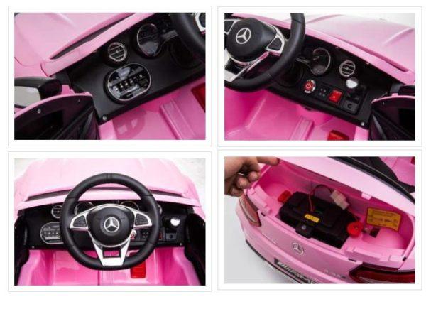 Mercedes C63 S Kinderauto Roze 7