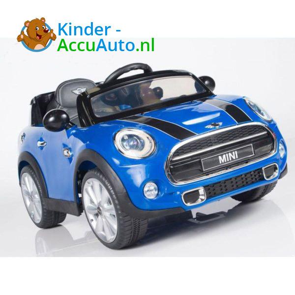 Mini Cooper Kinderauto Blauw 4