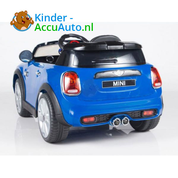 Mini Cooper Kinderauto Blauw 8