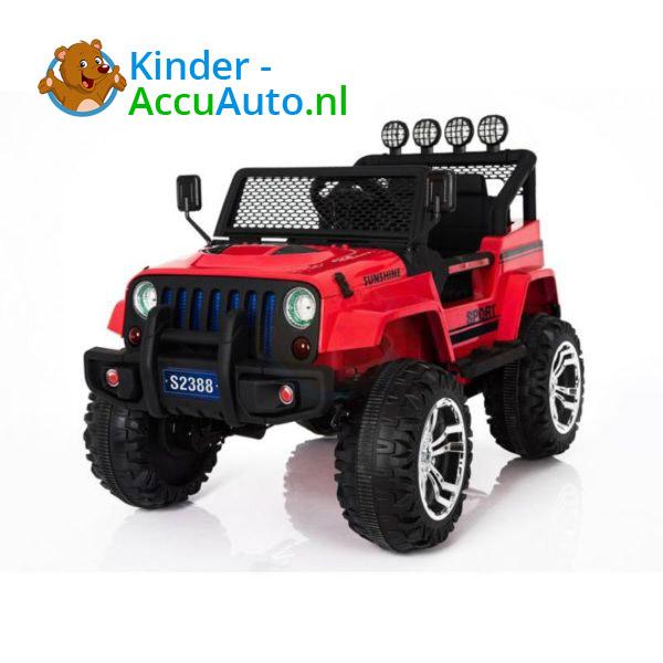 Monster Jeep Kinderauto Rood 1