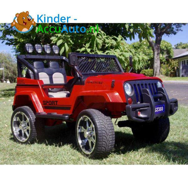 Monster Jeep Kinderauto Rood 2