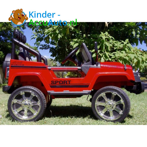 Monster Jeep Kinderauto Rood 4