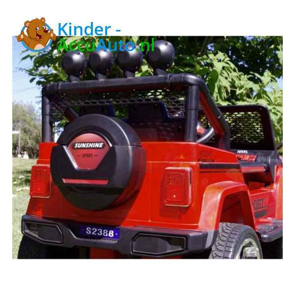 Monster Jeep Kinderauto Rood 5