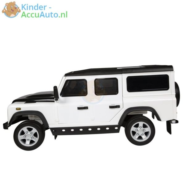 Kinderauto wit landrover defender 7