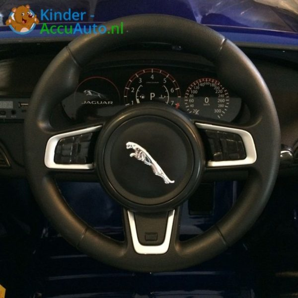 Kinder accu auto f pace blauw 5