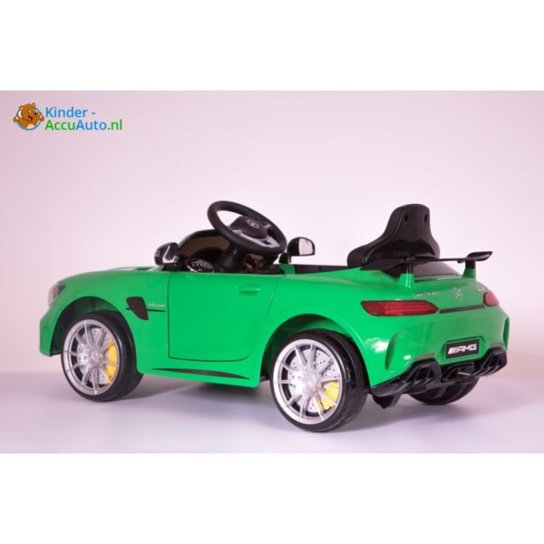 Kinder accu auto mercedes GTR AMG kinderauto groen1