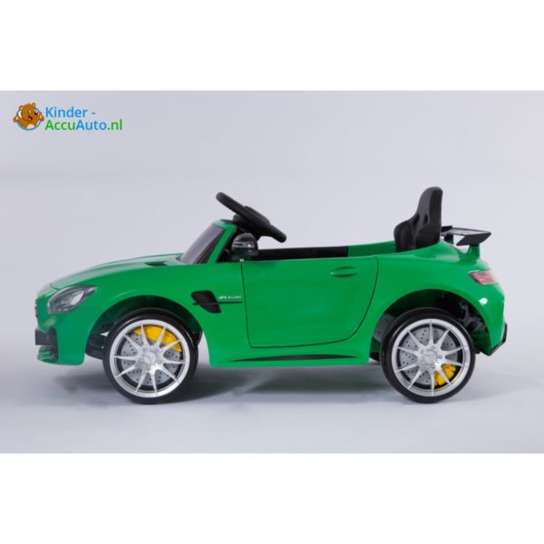 Kinder accu auto mercedes GTR AMG kinderauto groen 3