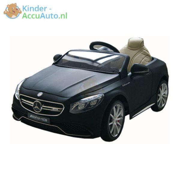 Kinder Accu Auto Mercedes S63 AMG Mat zwart 1