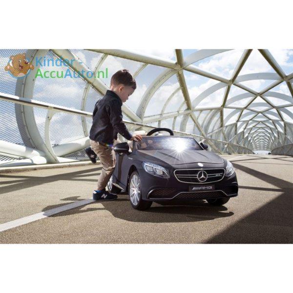 Kinder Accu Auto Mercedes S63 AMG Mat zwart 2