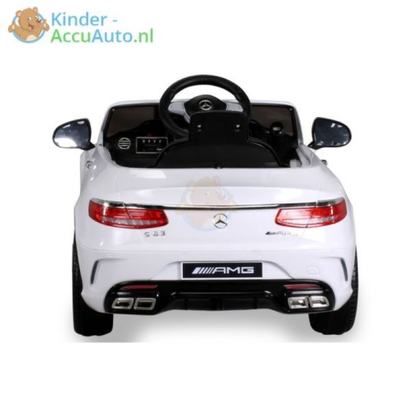 Kinder Accu Auto mercedes S63 amg wit 19