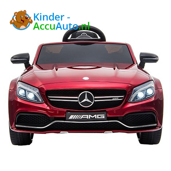 Kinder Accu Auto mercedes S63 amg rood 1