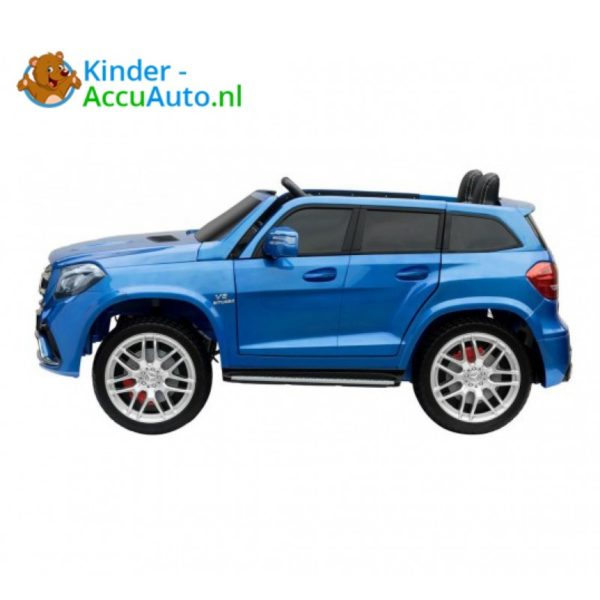 Kinder accu auto mercedes GLS 63 blauw 2