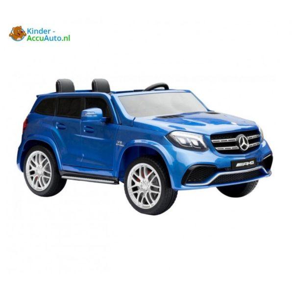 Kinder accu auto mercedes GLS 63 blauw