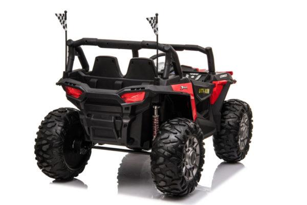 beach buggy elektrische kinderauto rood 2