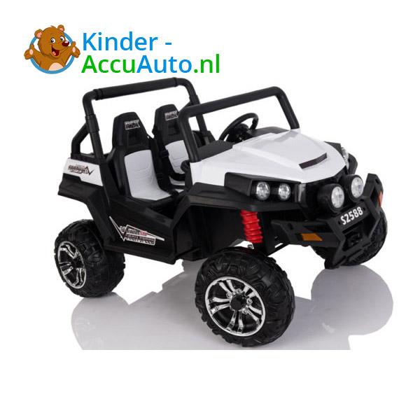 elektrische kinderauto beach buggy 4x4 wit 10