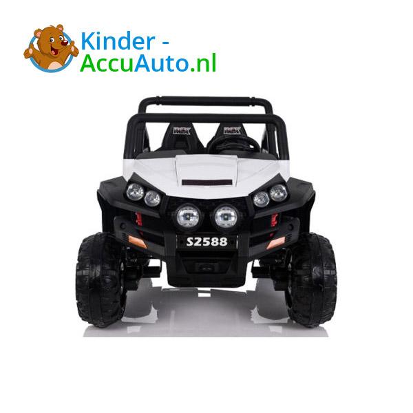 elektrische kinderauto beach buggy 4x4 wit 2
