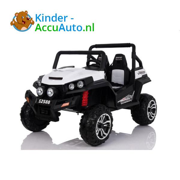 elektrische kinderauto beach buggy 4x4 wit 3